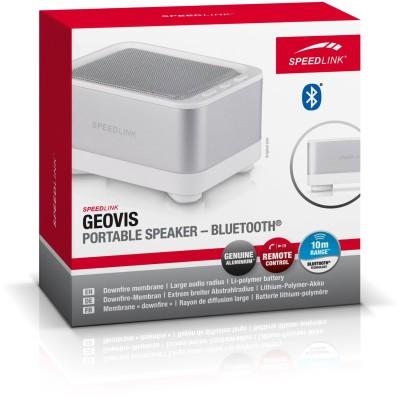 Speedlink GEOVIS tragbarer Bluetooth-Lautsprecher (USB), weiß/si