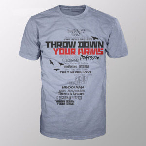 Throw Down Your Arms (Shirt M/Grey)