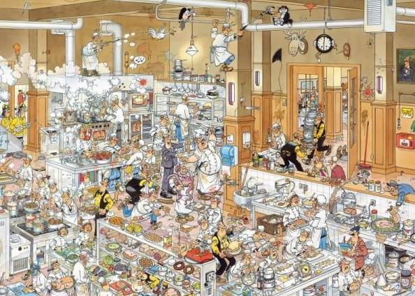Die Küche. Puzzle 1000 Teile