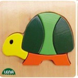 Lena 32063 - Holzpuzzle Schildkröte