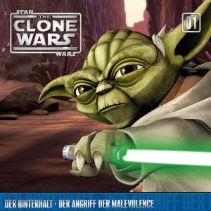 Star Wars, The Clone Wars - Der Hinterhalt - Der Angriff der Malevolence, 1 Audio-CD