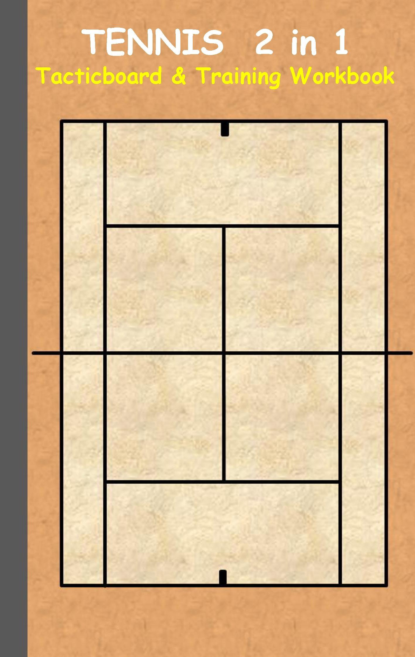 Tennis: 2 in 1 note- and tactic book with dry erase panel in com