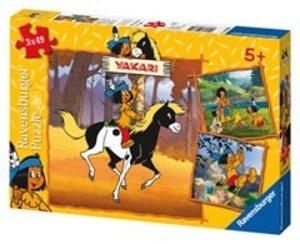 Yakari unterwegs. Puzzle 3 x 49 Teile