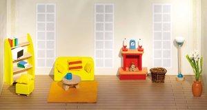 Goki 51904 - Puppenmöbel  Wohnzimmer, Holz