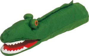 GOKI SO362 - Handpuppe Krokodil, 40 cm