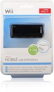 NOBILE Compact Active USB 2.0 Hub (4-Port), schwarz
