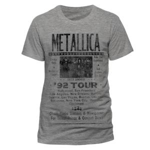 1992 Poster (T-Shirt,Grau,Größe XL)