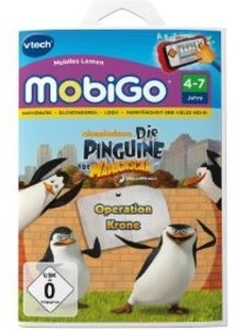 VTech 80-250304 - MobiGo Lernspiel: Die Pinguine aus Madagaskar