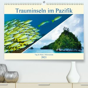 Mikronesien: Yap und Palau (Premium, hochwertiger DIN A2 Wandkal