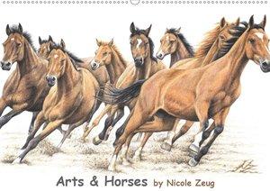 Arts & Horses (Wandkalender 2021 DIN A2 quer)