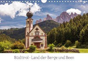 Südtirol - Land der Berge und Seen (Wandkalender 2021 DIN A4 que