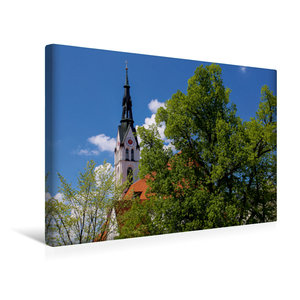 Premium Textil-Leinwand 45 cm x 30 cm quer Stadtpfarrkirche - Ma