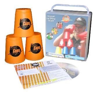 Flash Cups 1004 - Speed Stacking: FlashCups orange, 12 Stück, mi