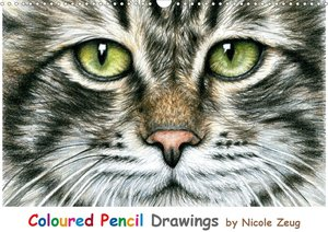 Coloured Pencil Drawings (Wandkalender 2021 DIN A3 quer)