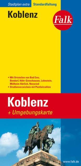 Falk Stadtplan Extra Standardfaltung Koblenz 1 : 20 000