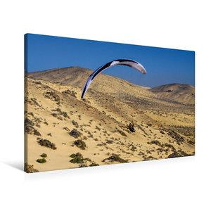 Premium Textil-Leinwand 90 cm x 60 cm quer Fuerteventura Soaring