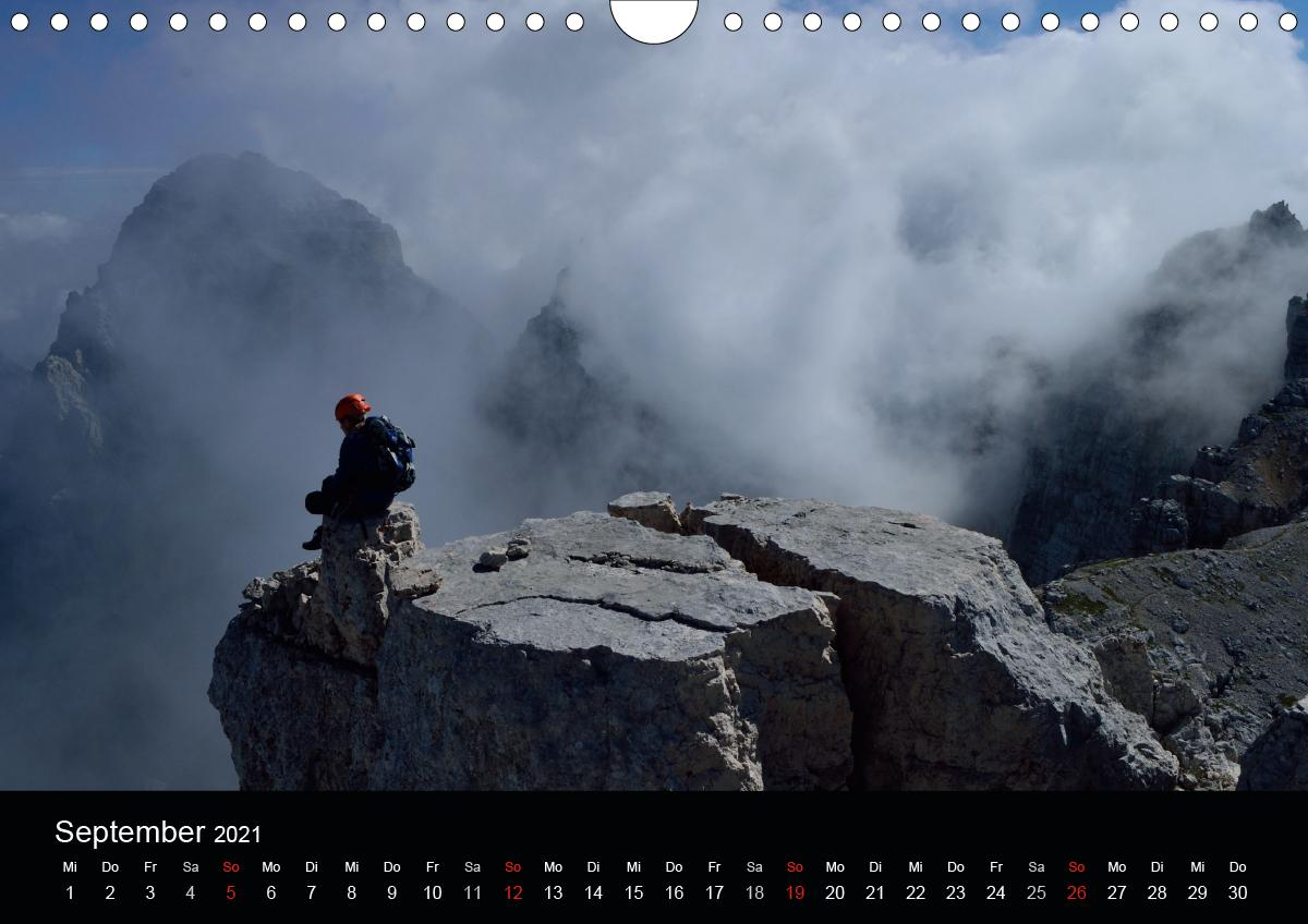 Sehnsucht BergAT-Version (Wandkalender 2021 DIN A4 quer)