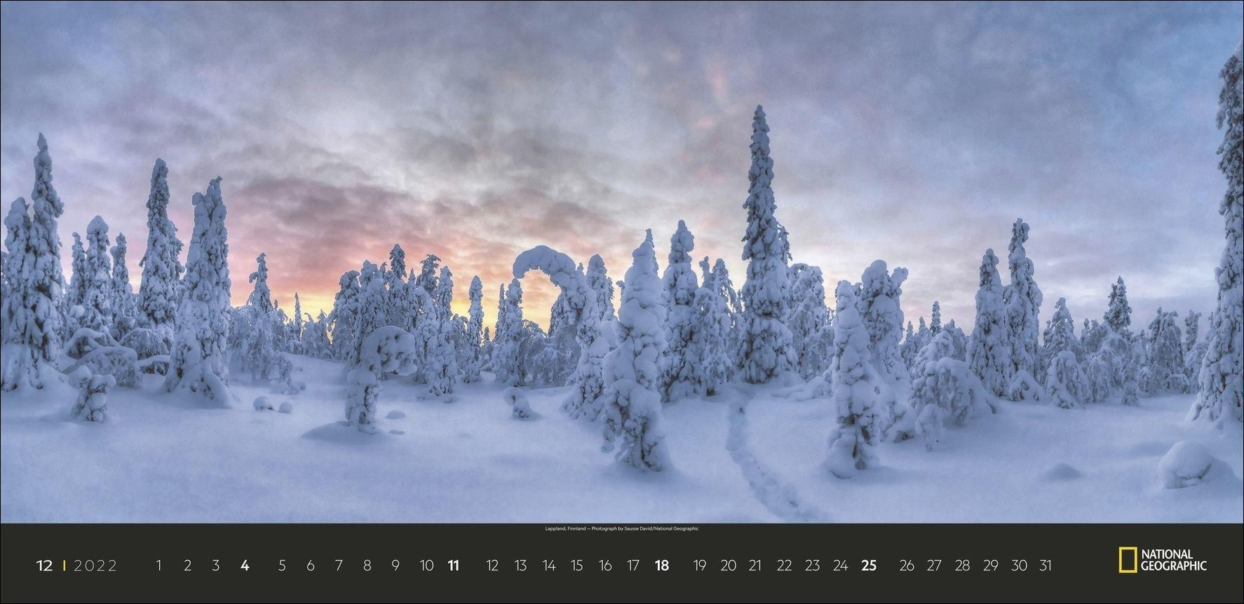 Die Lichter des Nordens Panorama National Geographic Kalender 2022