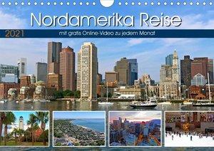 Reisekalender Nordamerika (Wandkalender 2021 DIN A4 quer)