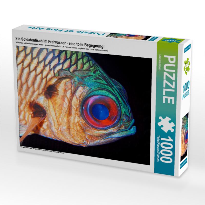 CALVENDO Puzzle Ein Soldatenfisch im Freiwasser - eine tolle Beg