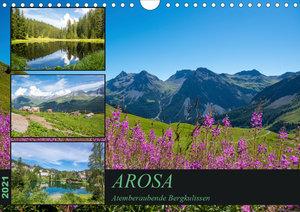 Arosa - Atemberaubende Bergkulissen (Wandkalender 2021 DIN A4 qu