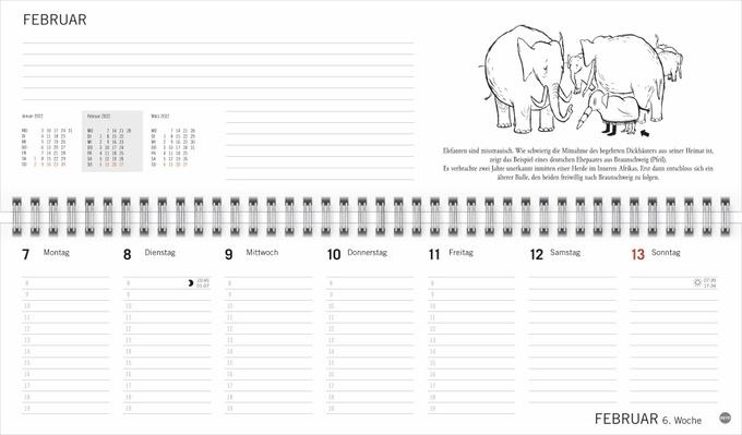 Loriot Büroplaner Kalender 2022