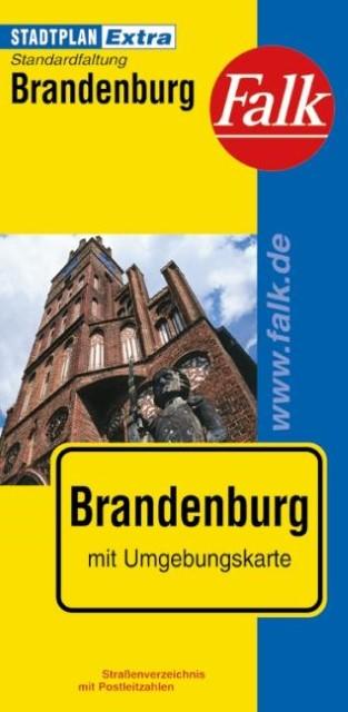 Falk Stadtplan Extra Standardfaltung Brandenburg