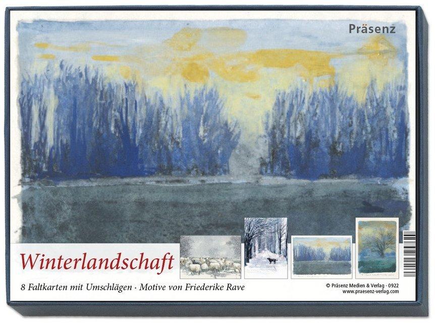 Kunstkarten-Box - Winterlandschaft
