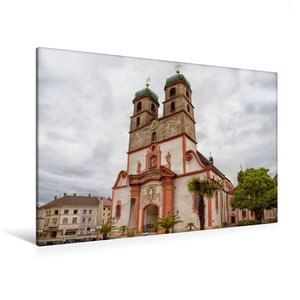 Premium Textil-Leinwand 120 cm x 80 cm quer Fridolinsmünster