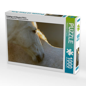 CALVENDO Puzzle Fellpflege mit Etiqueta (P.R.E.) 1000 Teile Lege