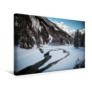 Premium Textil-Leinwand 45 cm x 30 cm quer Stubaital
