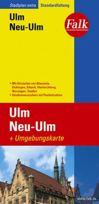 Falk Stadtplan Extra Standardfaltung Ulm, Neu-Ulm