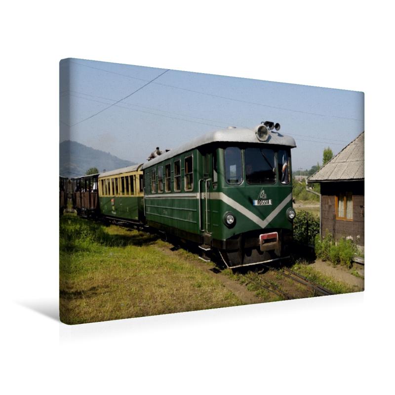 Premium Textil-Leinwand 45 cm x 30 cm quer Der Triebwagen Rossia