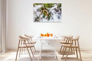Premium Textil-Leinwand 120 cm x 80 cm quer Neuseeland - Heiße Q