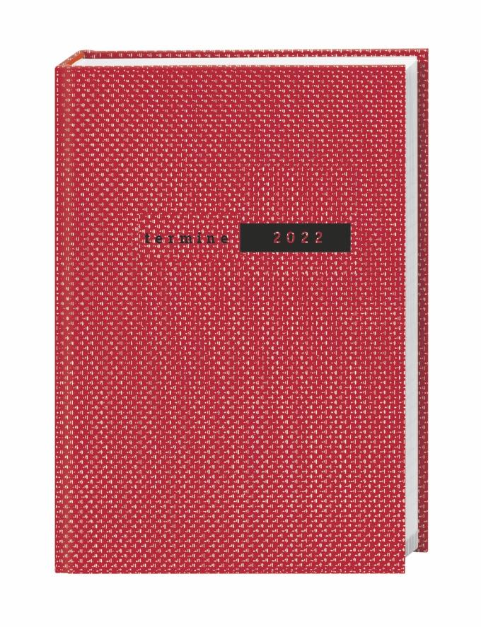 Terminer A5, Struktur rot Kalender 2022