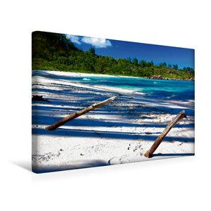 Premium Textil-Leinwand 45 cm x 30 cm quer La Digue - Anse Cocos