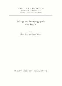 Beiträge zur Stadtgeographie von Sana\'a