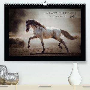 Die Faszinierende Welt der Pferde (Premium, hochwertiger DIN A2