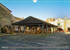 La Bastide de Monpazier - beau village de France (Calendrier mural 2022 DIN A4 horizontal)