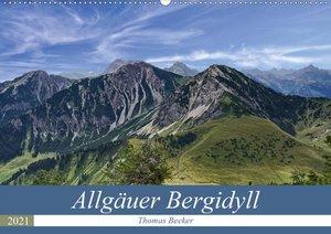 Allgäuer Bergidyll (Wandkalender 2021 DIN A2 quer)
