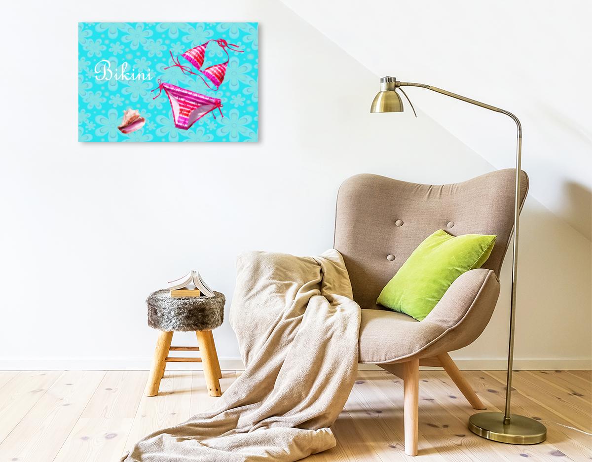 Premium Textil-Leinwand 75 cm x 50 cm quer Bikini
