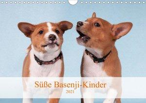 Süße Basenji-Kinder (Wandkalender 2021 DIN A4 quer)