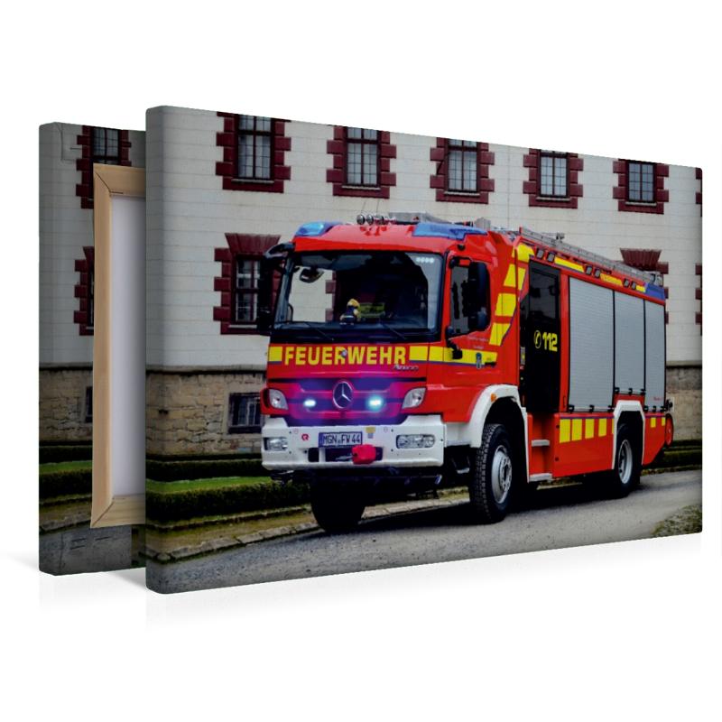 Premium Textil-Leinwand 45 cm x 30 cm quer Rosenbauer HLF 20 FF