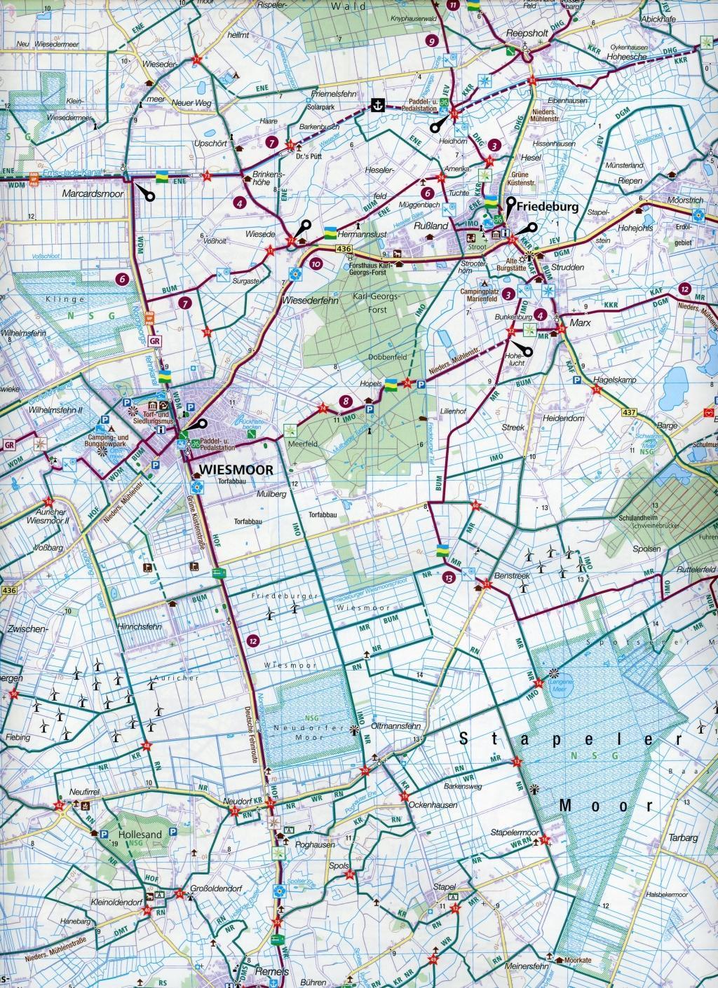 KOMPASS Fahrradkarte Wangerland, Wilhelmshaven, Jadebusen 1:70.0