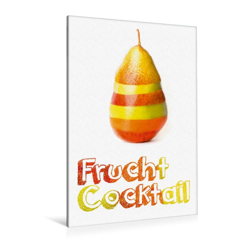 Premium Textil-Leinwand 80 cm x 120 cm  hoch Frucht Cocktail - G