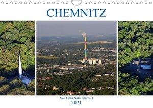 Chemnitz - Von Oben Nach Unten (Wandkalender 2021 DIN A4 quer)