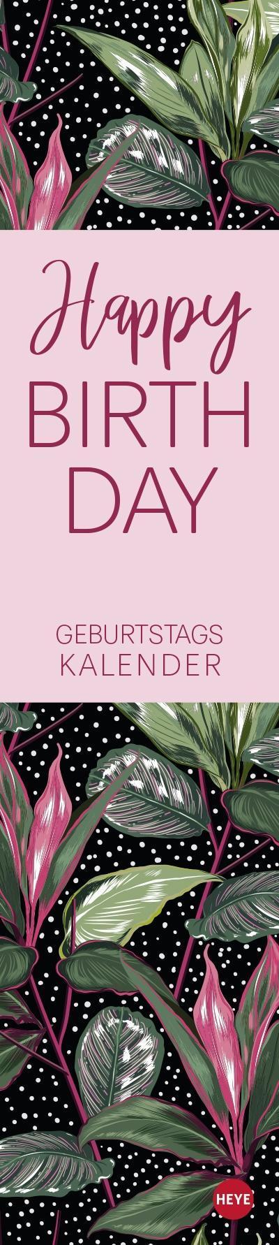 Tropical Leaves Geburtstagskalender long Kalender 2021