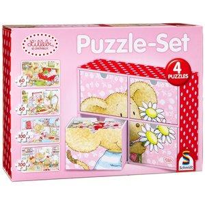 Schmidt Spiele 56503 - Lillebi: Puzzle-Set, 2 x 60, 2 x 100 Teil