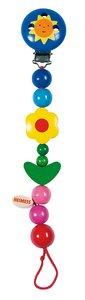 Goki 32370 - Schnullerkette Blume, Sonne