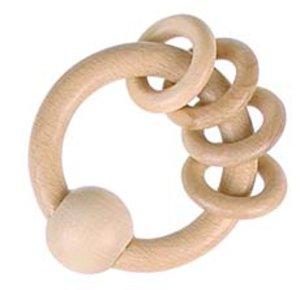 Goki 30800 - Greifling mit 4 Ringen, Holz